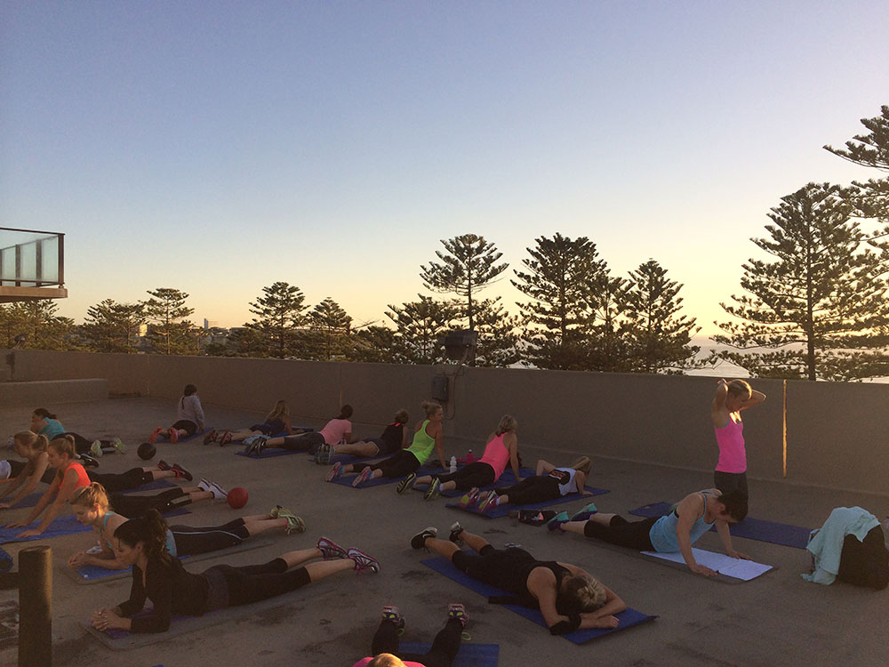 Rooftop-yoga-manly-beach